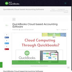 QuickBooks Cloud based Accounting Software - Intuit QuickBooks Online Support Number - 1800-945-0645