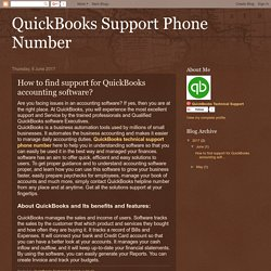 QuickBooks Support Phone Number: How to find support for QuickBooks accounting software?