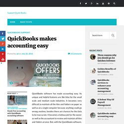 QuickBooks makes accounting easy - Support Quick Books