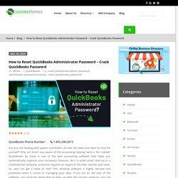 Reset QuickBooks Administrator Password