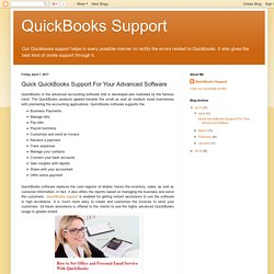 Quick QuickBooks Support For Your Advanced Software