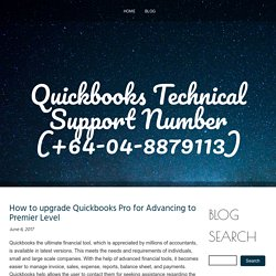 How to upgrade Quickbooks Pro for Advancing to Premier Level