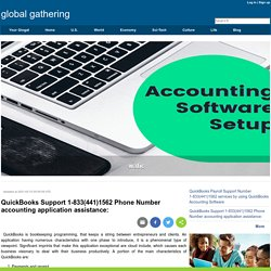 QuickBooks Support 1-833(441)1562 Phone Number accounting application assistance: