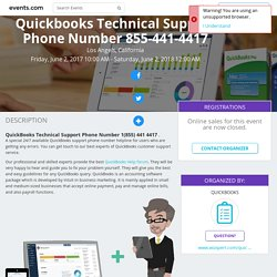 Quickbooks Technical Support Phone Number 855-441-4417 in Los Angels, California, Jun 2, 2017 - Events.com