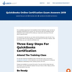 Quickbooks online certification exam answers 2019 - Uberaudit