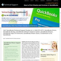 800-979-2975-QuickBooks Will Not Print Checks & Invoices