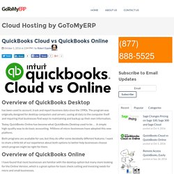 QuickBooks Cloud vs QuickBooks Online