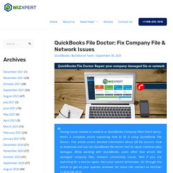 QuickBooks File Doctor: Fix Company File & Network Issues