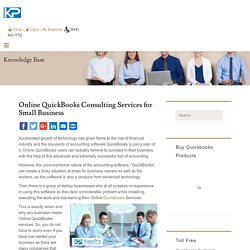 Online QuickBooks Consulting Services for Small Business