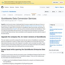 Quickbooks Data Conversion Services · KapsAndCo/Quickbooks Wiki