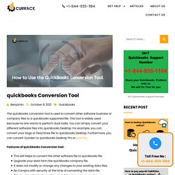 QuickBooks Conversion tool - How to use currace.com