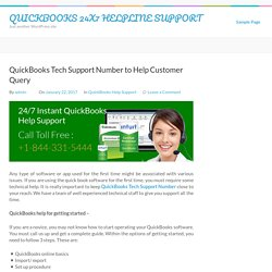 QuickBooks Tech Support Number to Help Customer Query – QUICKBOOKS 24X7 HELPLINE SUPPORT