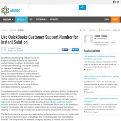 Use QuickBooks Customer Support Number for Instant Solution
