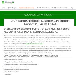Quickbooks Customer Care Support Number +1-844-331-5444