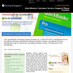 QuickBooks Customer Support - +1-800-979-2975