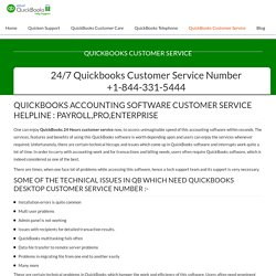 Quickbooks Customer Support Phone Number +1-844-331-5444
