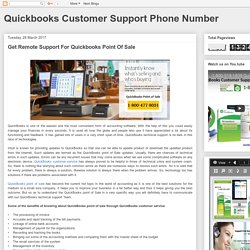 Quickbooks Customer Support Phone Number: Get Remote Support For Quickbooks Point Of Sale
