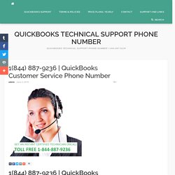 QuickBooks Customer Service Phone Number - Quickbooks Technical Support Phone Number