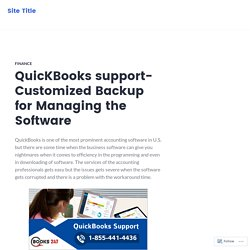 QuicKBooks support- Customized Backup for Managing the Software – Site Title