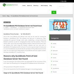 Fix QuickBooks POS Database Server not Found Issue