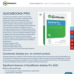 QuickBooks Desktop Pro 2020 - Plan, Pricing & Features