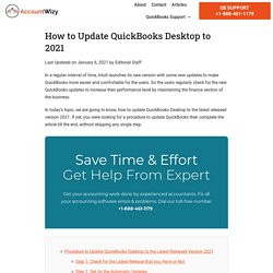 How to Update QuickBooks Desktop to 2021 Latest Released Version