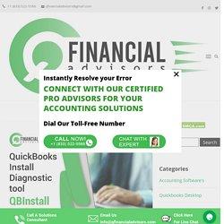 QuickBooks Install Diagnostic tool - QBInstall - Q Financial Advisors