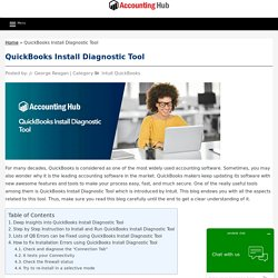 QuickBooks Install Diagnostic Tool - Download & Install Steps 1844-313-4856