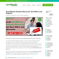 Avail QuickBooks Student Discount - Best Offers and Discounts