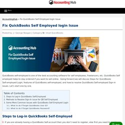 QuickBooks Self-Employed Login and Sign in issue