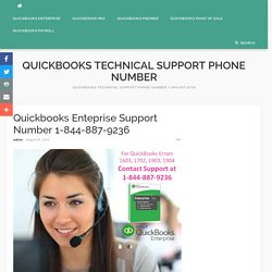 Quickbooks Enteprise Support Number 1-844-887-9236