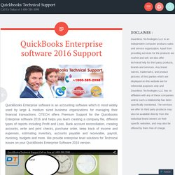QuickBooks Enterprise software 2016 Support