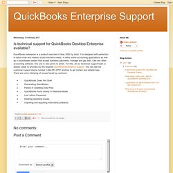 QuickBooks Enterprise Support : Is technical support for QuickBooks Desktop Enterprise available?