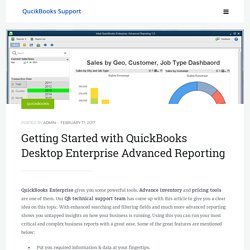 Getting Started with QuickBooks Desktop Enterprise Advanced Reporting