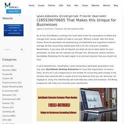 QuickBooks Enterprise Phone Number (1855)9070605 That Makes this Unique for Businesses