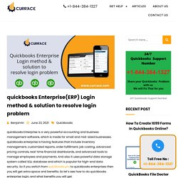 Quickbooks Enterprise Login method & solution to resolve login problem