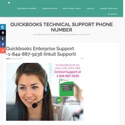 Quickbooks Enterprise Support -1-844-887-9236 (Intuit Support)