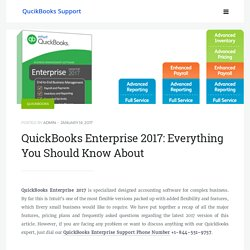 QuickBooks Enterprise 2017: Key Facts