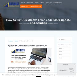 How to Fix QuickBooks Error Code 6000