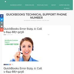 QuickBooks Error 6129, 0; Call 1-844-887-9236 – QB TechSupport