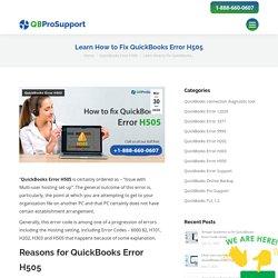 QuickBooks Error H505