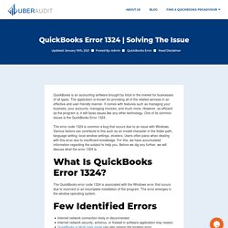 How to resolve QuickBooks Error - Uber audit