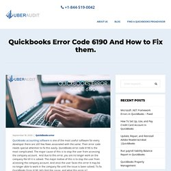 Fix Quickbooks Error Code 6190