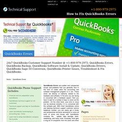 +800-979-2975 QuickBooks Errors,Fix QuickBooks Problems