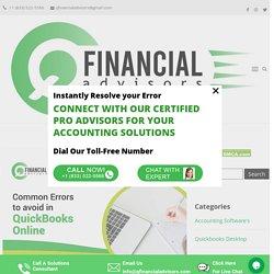 Common Errors to avoid in Quickbooks Online - Q Financial Advisors
