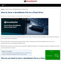 Save a QuickBooks File to a Flash Drive - Solved 1844-313-4856