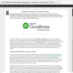 QuickBooks Enterprise : Barcode Scanning