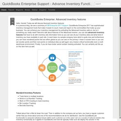 QuickBooks Enterprise Support - Advance Inventory Functionalities: QuickBooks Enterprise: Advanced inventory features