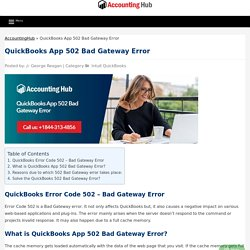 Fix QuickBooks App 502 Bad Gateway Error - 1844 313 4856